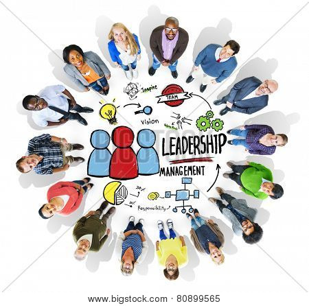 Diversity People Leadership Management Looking Up Concept