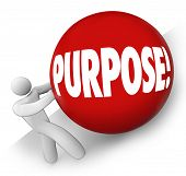 image of objectives  - Purpose word on red ball rolled uphill by a man - JPG