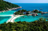 pic of yang  - Scenic view over the small paradise island Ko Nang Yang from the view point on top of the mountain - JPG