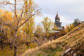 stock photo of armenia  - Sevanavank Monastery located at the bank of Lake Sevan in Armenia - JPG