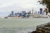 image of alcatraz  - The San Francisco skyline in California United states of America from Alcatraz island - JPG