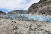 image of west village  - Nigardsbreen is a glacier arm of the large Jostedalsbreen glacier - JPG