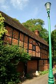 Ancient brick and timber house