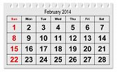 picture of february  - one page of the annual calendar  - JPG