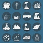 foto of fuel tanker  - Set 16 fuel and energy icons - JPG