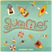 picture of ski boat  - Sea Summer Card - JPG