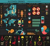 picture of bing  - Alcohol drinks infographic elements - JPG