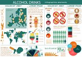 stock photo of bing  - Alcohol drinks infographic elements - JPG