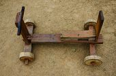 pic of four-wheel  - little wooden four wheel toy car in Thailand - JPG