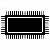 foto of microchips  - Microchip icon on white background - JPG