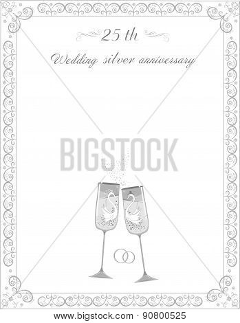 Congratulations on the 25th anniversary silver wedding