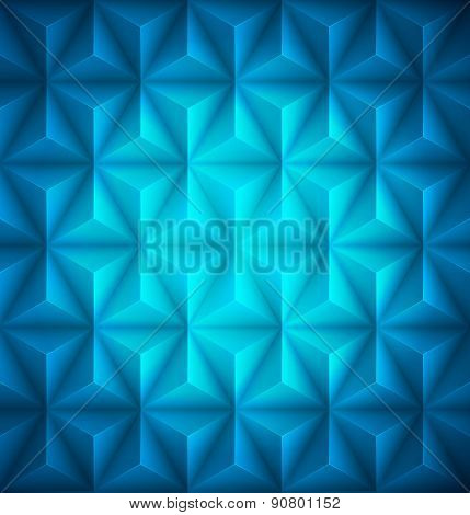 Blue Geometric abstract low-poly paper background. Vector illustration
