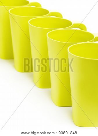 Green Bamboo Mugs
