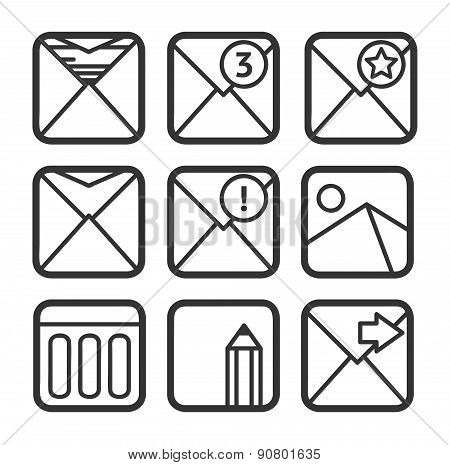 E-mail Icons Set