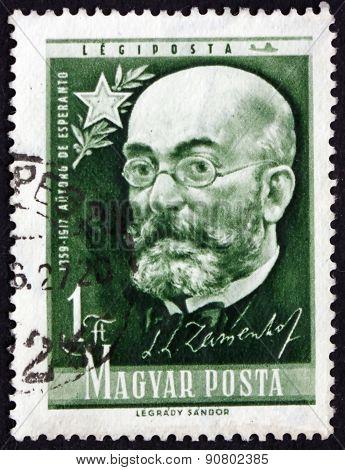 Postage Stamp Hungary 1957 Zamenhof, Creator Of Esperanto