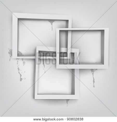 Abstract vector white frames with place for text.