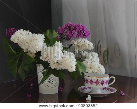 Lilac And Tea Pair