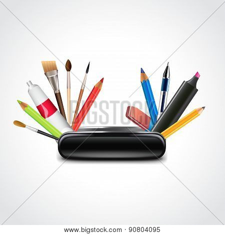Swiss Knife For Designer Vector Illustration