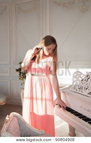 girl at the piano