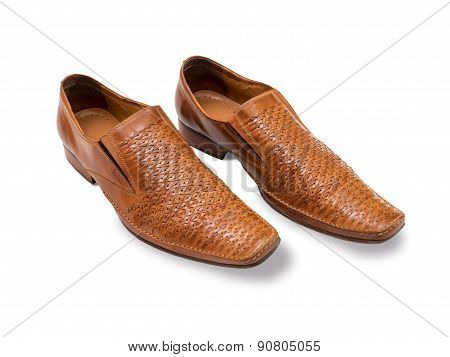 Orange-biege men's shoes