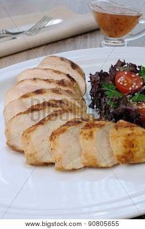 Slices Of Chicken Grilled