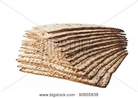 Isolated Matzot On White