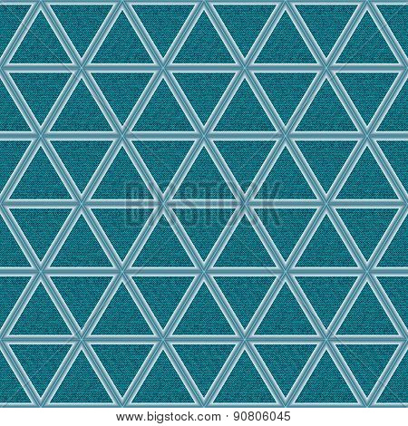 Azure Jeans Background With Rhombs