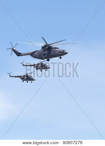 Helicopters Mi-26 And Mi-8