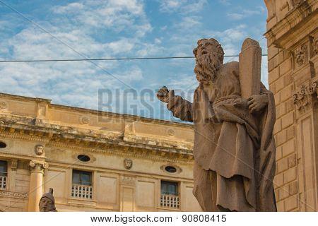 Italy: Historic Center San Sebastiano Church Baroque Architecture