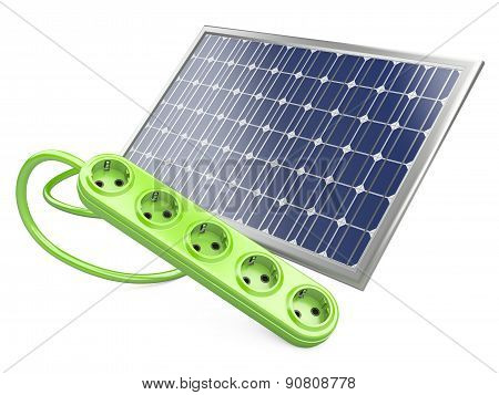 Solar Panel With Socket