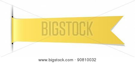 Blank Yellow Ribbon