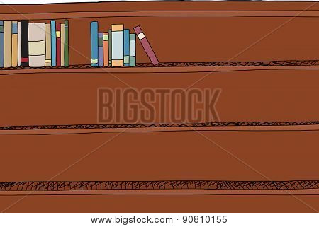 Sets Of Books On Shelf