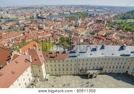 Aerial view of Prague (Czech Republic)