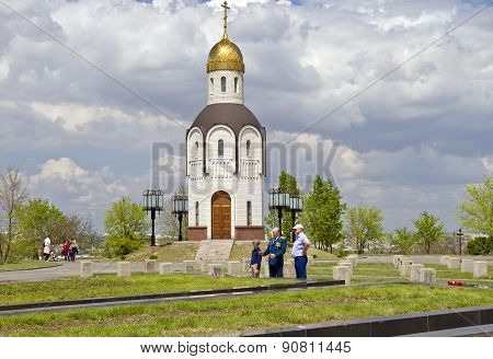 The Temple-chapel In Honor Of The Vladimir Icon Of The Mother Of God At The Military Memorial Cemete