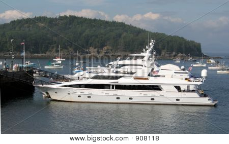 Yacht At Anchor