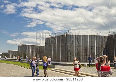 Marble Slabs With The Names Of Soldiers Killed In The Defense Of Stalingrad Memorial Cemetery Of Mam