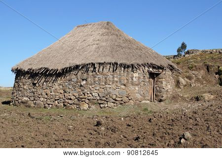 Homes, Amhara, Ethiopia, Africa