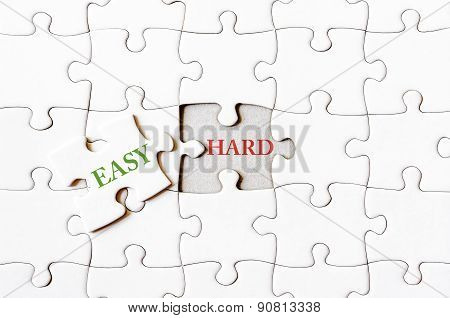 Missing Jigsaw Puzzle Piece With Word Easy