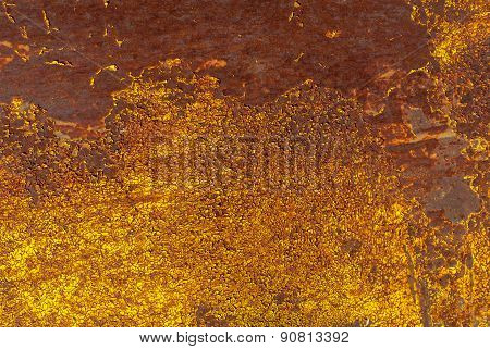chipped paint on iron surface background