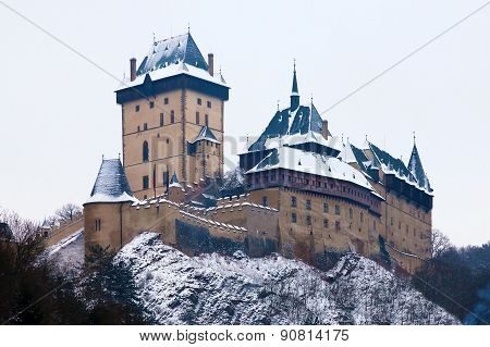 Castle Karlstejn in Czech Republic, winter