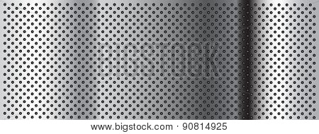 High resolution concept conceptual gray metal stainless steel aluminum perforated pattern texture mesh banner background