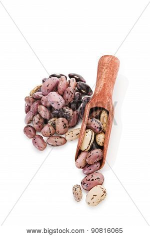 Beans On Wooden Spoon.