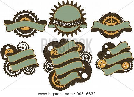 Steampunk Mechanism Banner