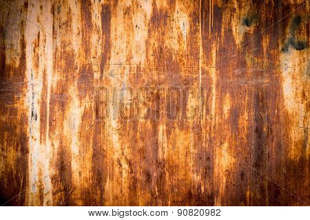 Old Rusty Texture On An Aged Plate