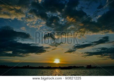 Beautiful evening sunset