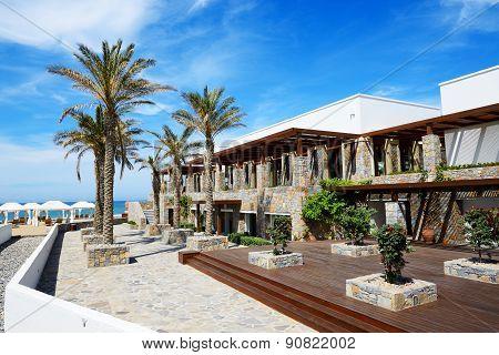 Recreation Area At Luxury Hotel, Crete, Greece