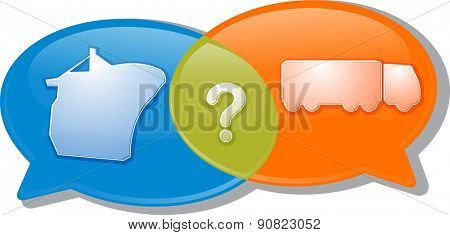 Illustration concept clipart speech bubble dialog conversation negotiation argument vector
