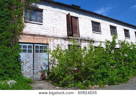KIEV, UKRAINE - MAY 17, 2015: Abandoned industrial complex..May 17, 2015 Kiev, Ukraine
