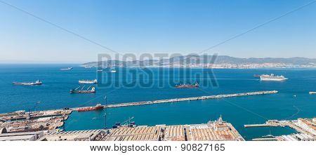 Panoramic View Over The Strait Of Gibraltar