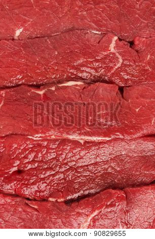 Piece of fresh raw meat background, close-up